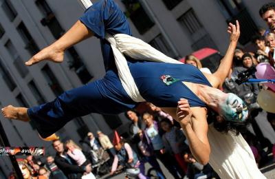 circus straatanimatie
