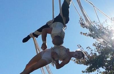 acrobatie op hoog niveau