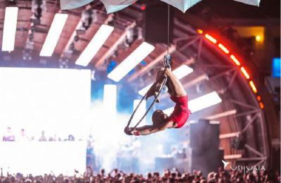 acrobatische luchtvoorstelling voor events